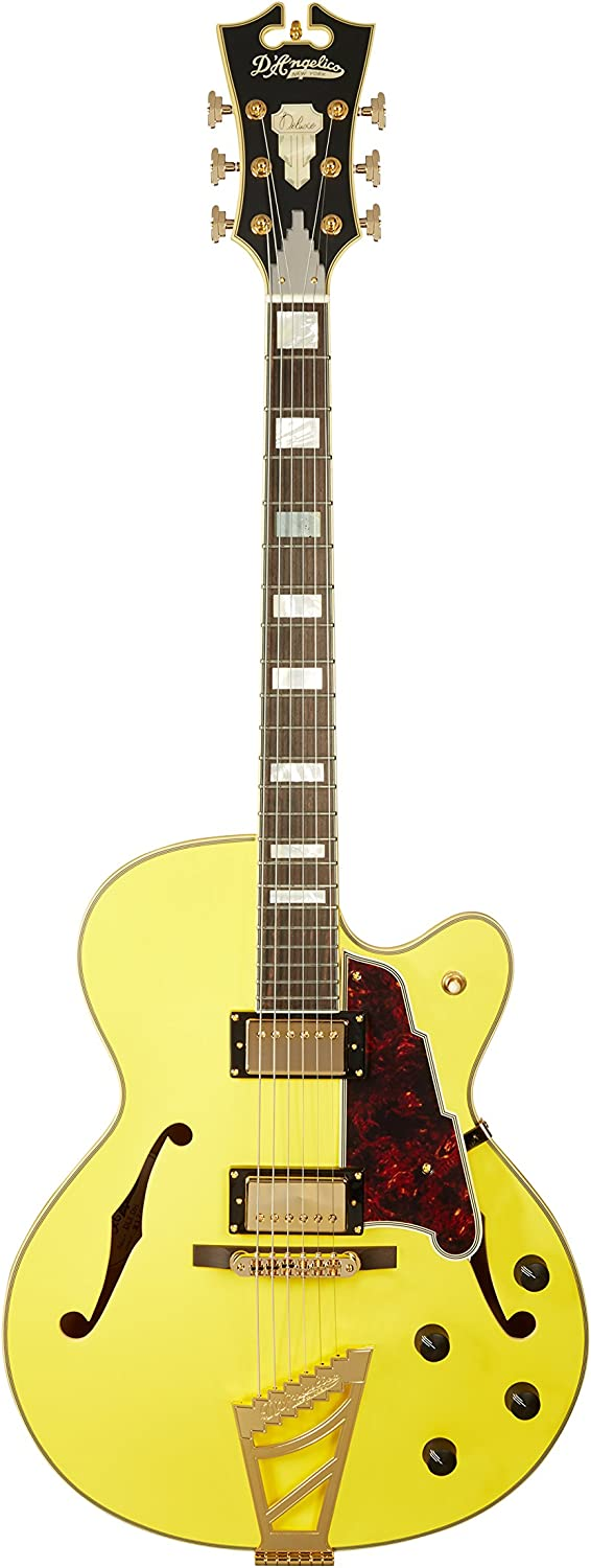 Store D'Angelico Deluxe DH Hollow-Body Electric Guitar Matte All items free shipping - Electri
