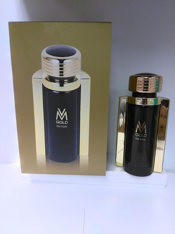 Victor Manuelle Gold Him for Men Eau de Toilette Spray, 3.4 Ounc