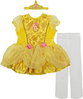 Princess Belle Baby Girls' Costume Tutu Dress, Headband and Tights