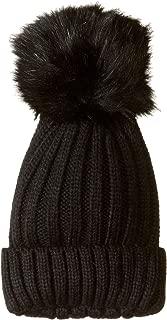 Steve Madden Women's Knit Beanie with Oversized Pom