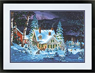 Dimensions 73-91614 Snowy Christmas Cabin Paint by Numbers for Adults, 20'' W x 14'' L