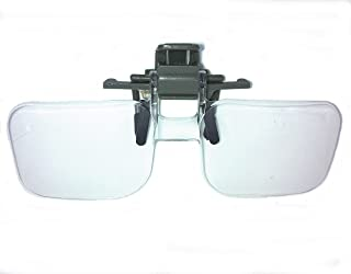 【IDHIA】 クリップ式 ルーペ 跳ね上げ式 めがねルーペ メガネ型 拡大鏡 2倍 ハード眼鏡ケース クロス付 跳ね上げ式ですので眼鏡をかけ替える必要がありません