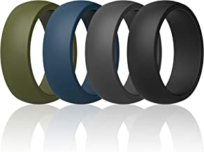 2.5mm Thick Breathable with Air Flow Grooves 10mm Wide ThunderFit Silicone Wedding Ring for Men