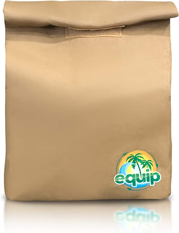 Eco Friendly Durable Reusable Brown Paper Lunch Bag Sack For School Or Office