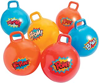 """Fun Express - """"Super Hero Happy Hoppers 18"""""""" (6pc) - Toys - Active Play - Recess & PE Play - 6 Pieces"""