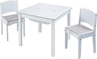 Hello Home 528GWH Juego de Mesa Infantil y 2 sillas para Manualidades
