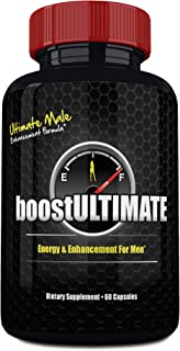 boostULTIMATE Testosterone Booster Pills, Low T Supplement with Tongkat Ali, Maca, L-Arginine & Ginseng for Natural Male Enhancement - Increase Your Muscle Size, Energy & Stamina - 60 Capsules