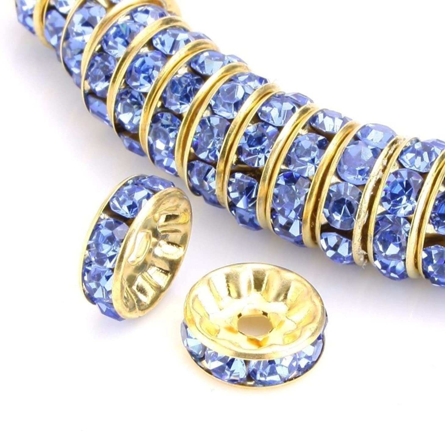 100pcs Best Quality Rondelle Spacer Beads 4mm Jet Black Top Quality Austrian Crystal Rhinestone 14k Gold Plated Copper Brass CF4-423
