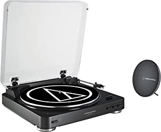Audio-Technica AT-LP60SPBT-BK Fully Automatic Belt-Drive Wireless Turntable and Speaker System