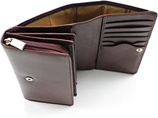 Italian Leather Clutch Card Wallet With Coin Pocket