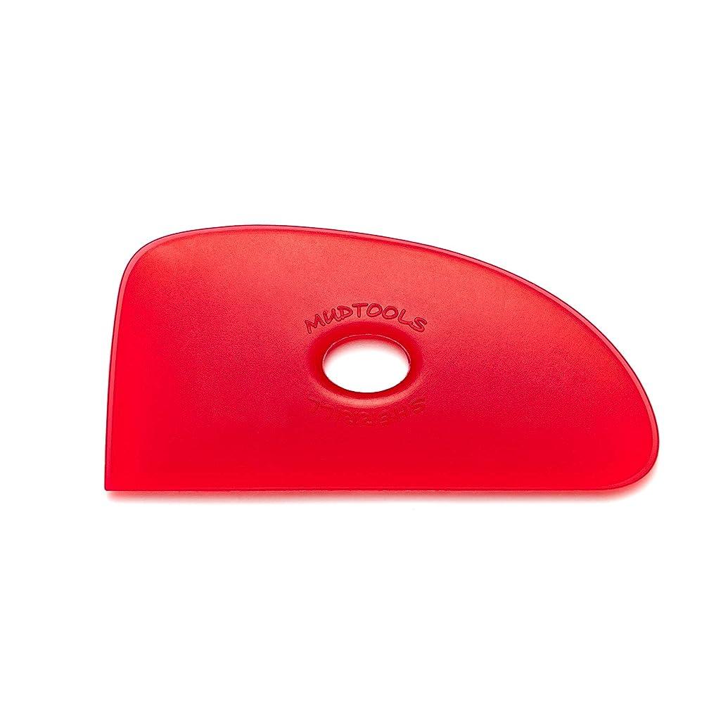 Mudtools Polymer Rib Red Size 4 Very Soft - Triple Radius - Ceramics, Pottery, Clay - R4