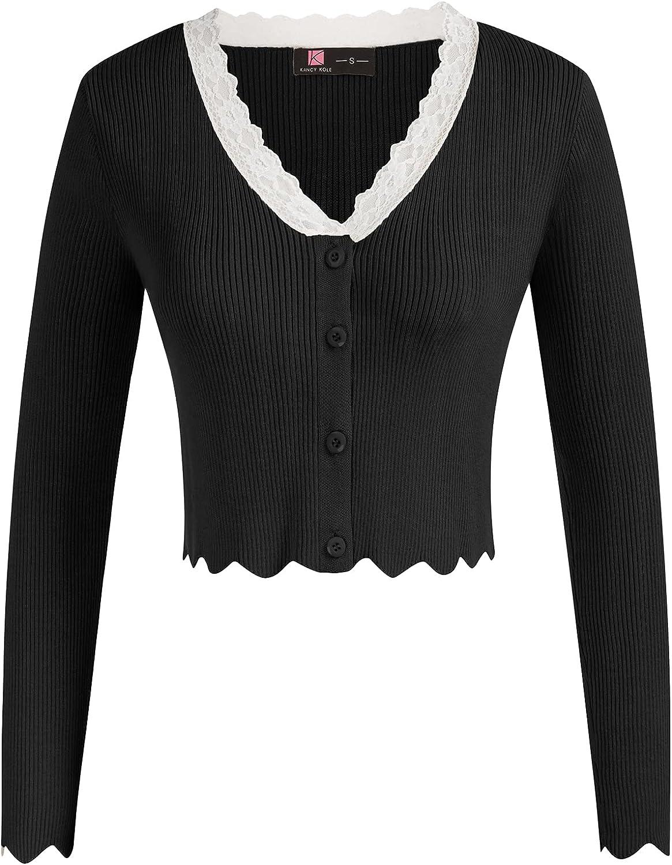 KANCY KOLE Sale item Women's Cropped List price Bolero Cardigan Sleeve V Neck Long Sh