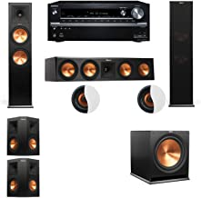Dolby Atmos 5.1.2 Klipsch RP-280F Tower Speakers R-115SW with Onkyo TX-NR838