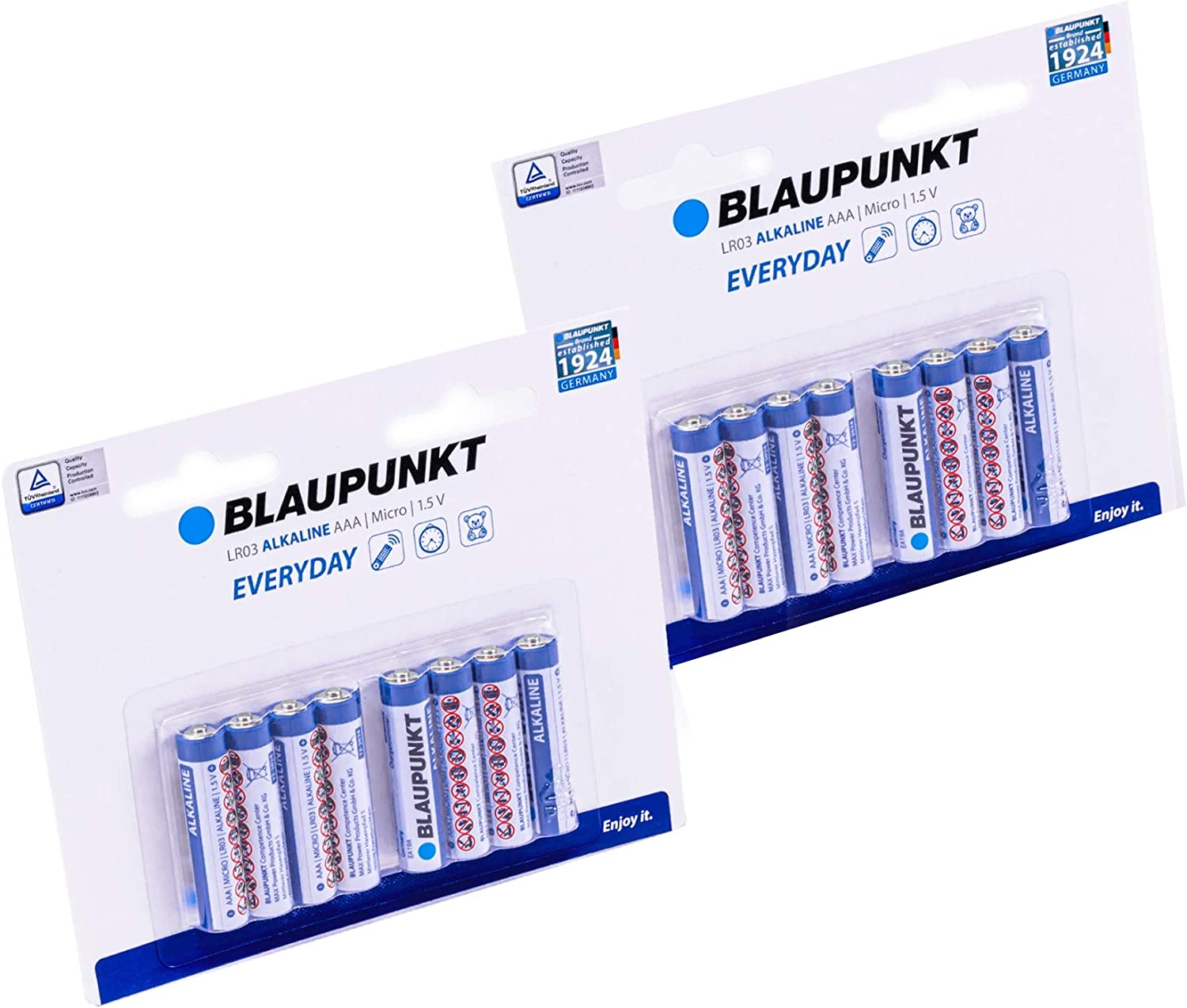 Blaupunkt AAA Alkaline 1.5 Max 51% OFF Volt All-Pur Long Batteries Factory outlet Lasting