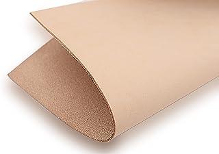 ぬめ革 生成り 材料 タンロー レザークラフト ハギレ[A4サイズ(210mm×297mm):1枚][生成り][厚み0.5mm]