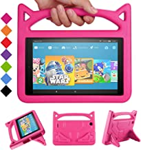 Riaour All-New Amazon Fire HD 10 Kids Case Shock Proof Light Weight Convertible Handle Stand Kids Friendly Cover for Fire HD 10.1