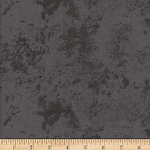 Mook Fabrics USA LP Flannel Snuggy Marble Fabric, Dark Grey, Fabric By The Yard