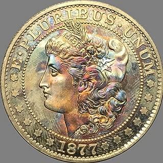 Rare Antique USA United States 1877 Morgan Half Dollar Silver Color Coin