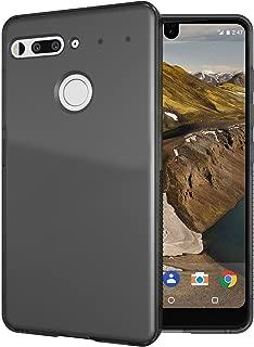 Essential Phone PH-1 Case, TUDIA Lightweight Minimalist [SKN] TPU Bumper Shock Absorption Cover for Essential Phone PH-1 (Glossy Smoke)