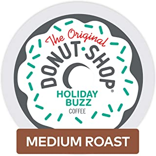 The Original Donut Shop Holiday Buzz Single Serve Keurig K-Cup Pods, Medium Roast Coffee, 12 Count
