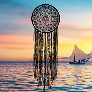 CHICIEVE Black Boho Dream Catchers Crochet Lace Teen Dreamcatcher 10.2