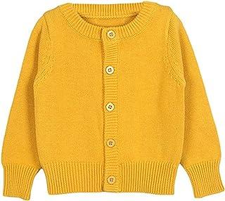 ffcbbb51a6d REWANGOING Baby Little Girls Long Sleeve Spring Autumn Knit Cardigan Front  Button Sweater