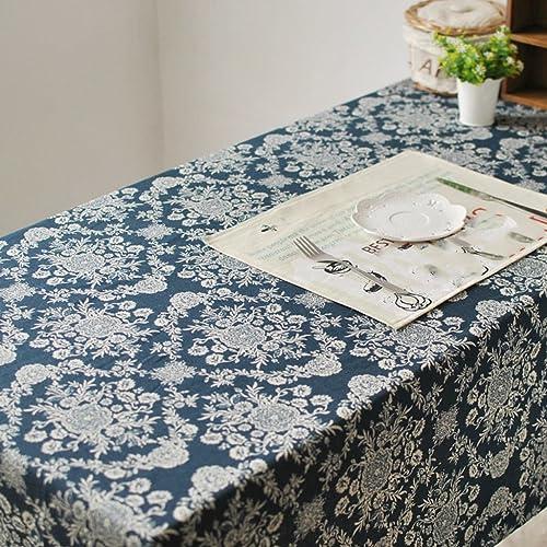 cómodamente HAOLIA Pastoral mantel de lino de algodón algodón algodón azul tovaglie ( Tamaño   140140cm )  Ahorre 60% de descuento y envío rápido a todo el mundo.