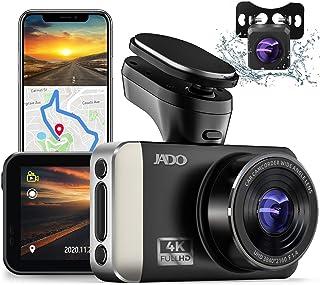JADO ドライブレコーダー 前後カメラ 4K Ultra HD WIFI SONY415製CMOSセンサー 32GB SDカード付き APP GPS追迹 3インチIPSモニター G-Sensor 高画質超暗視型 前後同时録画170度広角 駐車...
