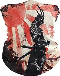 N/A Pañuelo Bufanda,Bufanda Japonesa Samurai Katana Headwear, Bandana De Protección Facial Premium para Fútbol Unisex 25X50Cm