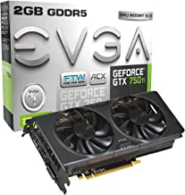 EVGA GeForce GTX 750 Ti FTW DVI-I/HDMI/Display Port GDDR5 Graphics Card with ACX Cooling 02G-P4-3757-KR
