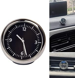 Acecharming Car Dashboard Clock, Mini Car Quartz Clock Round Car Air Vent Clock Universal Automobile Vehicle Dashboard Clock