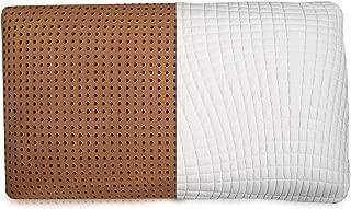 Blissful Nights Mid Loft King Size Copper Infused Ventilated Memory Foam Pillow, 3 Year Warranty