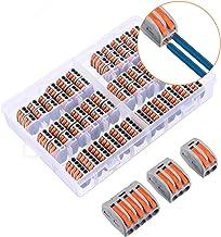 Charminer Lever-Nut Surtidas Conector, Bloque de Terminales de Barra de Presión Bilateral,Electrical Terminal Block, Condu...
