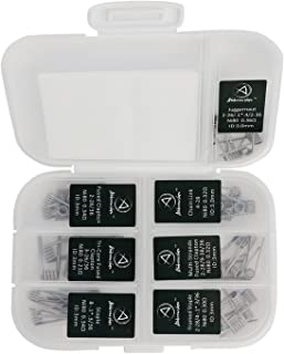 Ambrose 7 in 1 Prebuilt Resistance Wire Kit Heating Wires coils with Cotton 42pcs NI80 Household Wires for Craft Hobby Use