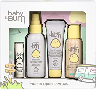 Baby Bum Born to Explore Travel Set | Travel Sized Essentials 4-Piece On-The-Go Gift Set for Sensitive Skin with Nourishin...