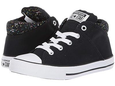 Converse Kids Chuck Taylor(r) All-Star(r) Madison Galaxy Dust Mid (Little Kid/Big Kid) (Black/Mod Pink/White) Girls Shoes