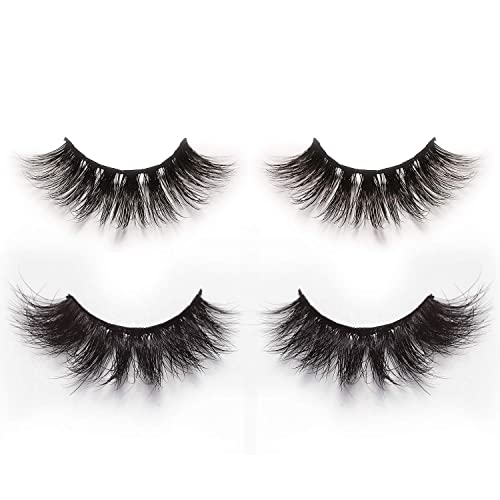 935c2dd5752 Alluring 3D & 4D Mink Fur False Eyelashes Pack of 2 Pairs,100% Natural