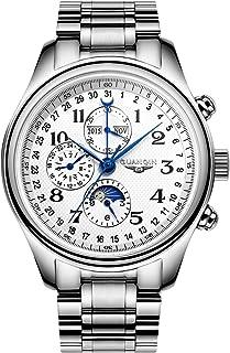 Montre Mécanique Automatique pour Homme Analogique Calendrier Business Décontracté Bracelet en Acier Inoxydable/en Cuir Ca...