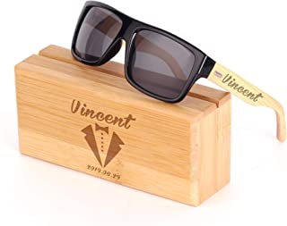 Personalized Wooden Sunglasses for Groomsmen and Best Man, Engraved Wood Sunglasses Gift