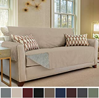 Gorilla Grip Original Slip Resistant Sofa Slipcover Protector Seat Width Up To 70 Suede