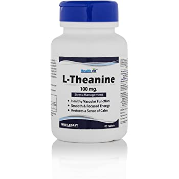 Healthvit L-Theanine for Stress Management 100 mg - 60 Tablets