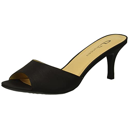 7a461a14113 Women s Black Slide Sandals with Heels  Amazon.com