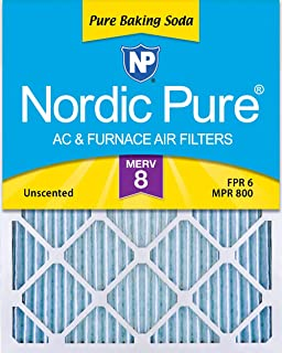Nordic Pure 8x20x1 Pure Baking Soda Odor Deodorizing AC Furnace Air Filters, 3 PACK, 3 Piece