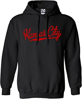 Shirt Boss Unisex Kansas City Script & Tail HOODIE Black/Red