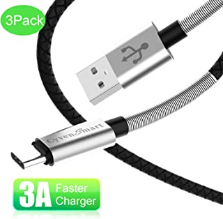 USB Type C Cable 3 ft, Compatible with Samsung Galaxy S8 S9 S10 Plus Charger (3A Fast Charging) 3 Pack 3 Feet USB A to USB-C TPE Cord Replacement for Samsung Note 9 8,Google Pixel 2 3 XL
