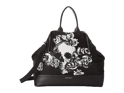 Alexander McQueen Skull Briefcase (Black) Handbags