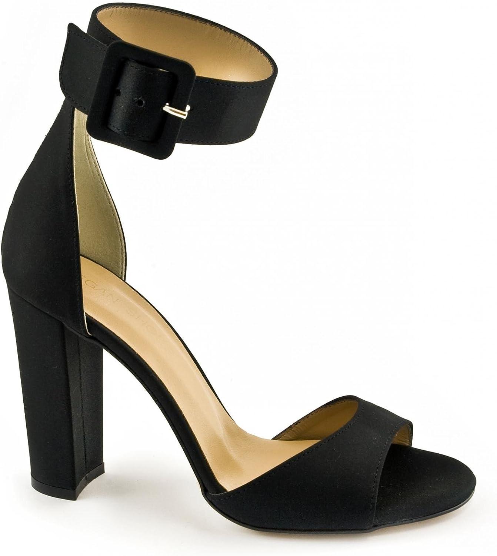 VSI Sandalen Frau Stoff Ferse Schnalle Vegan Strap Schuhe Made in