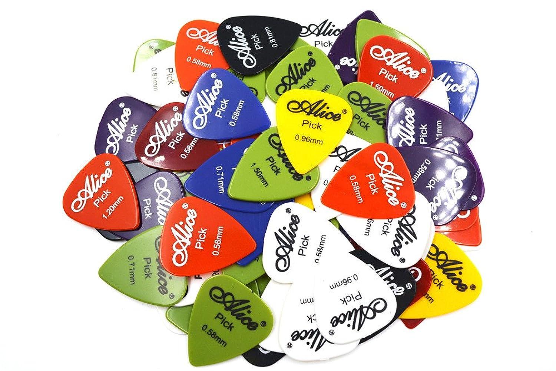 デッドチャンピオンシップ旅客Alice アリス AP-P 100枚 スムーズABS ギター ピック プレクトラム パック厚さ色盛り合わせ