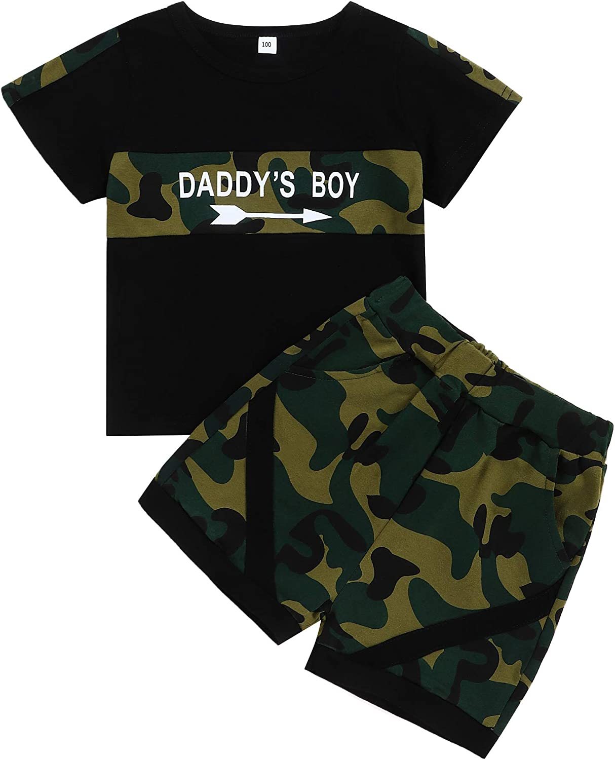 Toddler Baby Boy Clothes Summer Outfits Daddy Boy Clothing Short Sleeve Tshirt Top Shorts Set