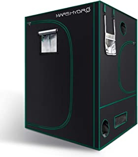 MARS HYDRO Grow Tent 5x5 for Indoor Plant Growing Reflective 1680D Canvas Mylar Hydroponic Grow Tent Grow Room with Observation Window and Floor Tray 60